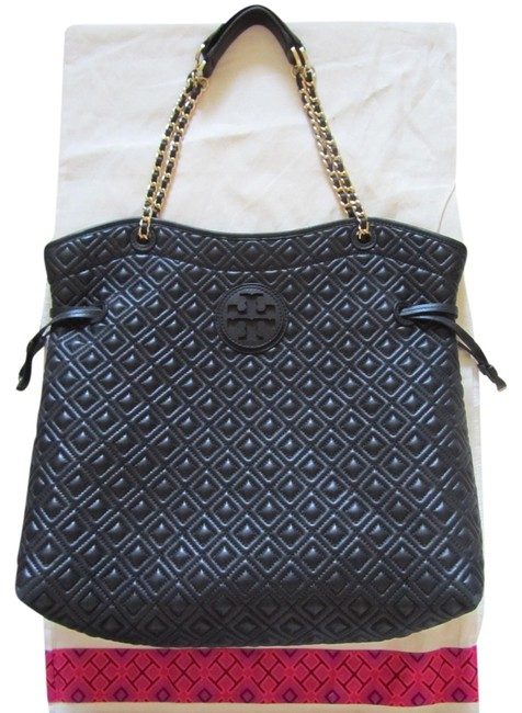 Item - Marion Quilted Slouchy Black Leather Tote