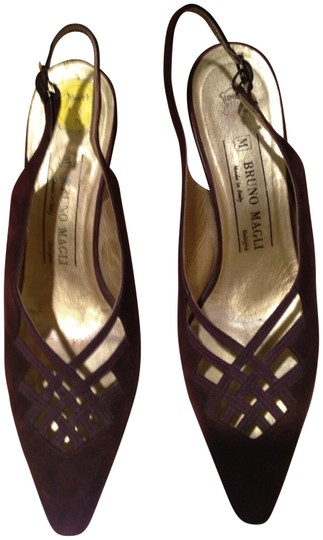 Bruno Magli Dark Chocolate Brown Pumps