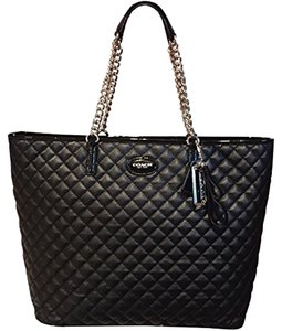 Coach Quilted Tote in black
