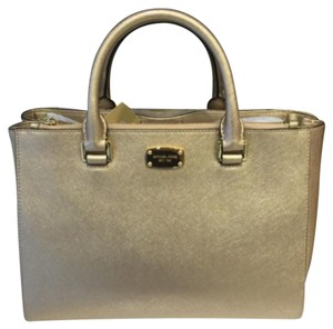 MICHAEL Michael Kors Satchel in Pale Gold