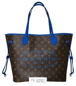Louis Vuitton Ikat Neverfull Tote in Grand Bleu Blue