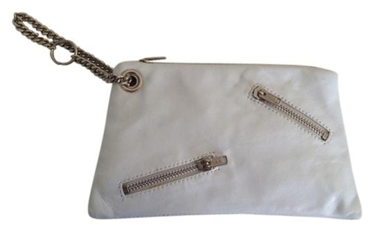 Other Leather Clutch Wristlet in White