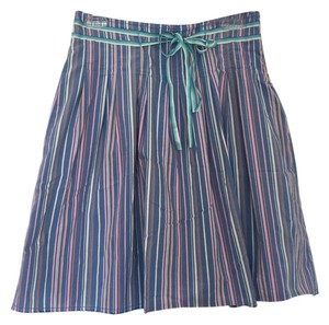 Old Navy Skirt Blue and white/pink stripes