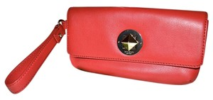 Kate Spade Leather Cell Phone Case Purse Turnlock Wristlet in Red