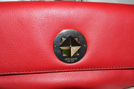 Kate Spade Leather Cell Phone Case Purse Turnlock Wristlet in Red Image 2