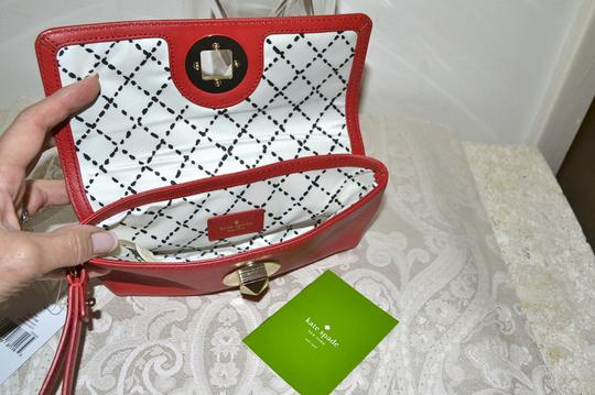 Kate Spade Leather Cell Phone Case Purse Turnlock Wristlet in Red Image 3