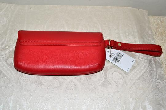 Kate Spade Leather Cell Phone Case Purse Turnlock Wristlet in Red Image 4