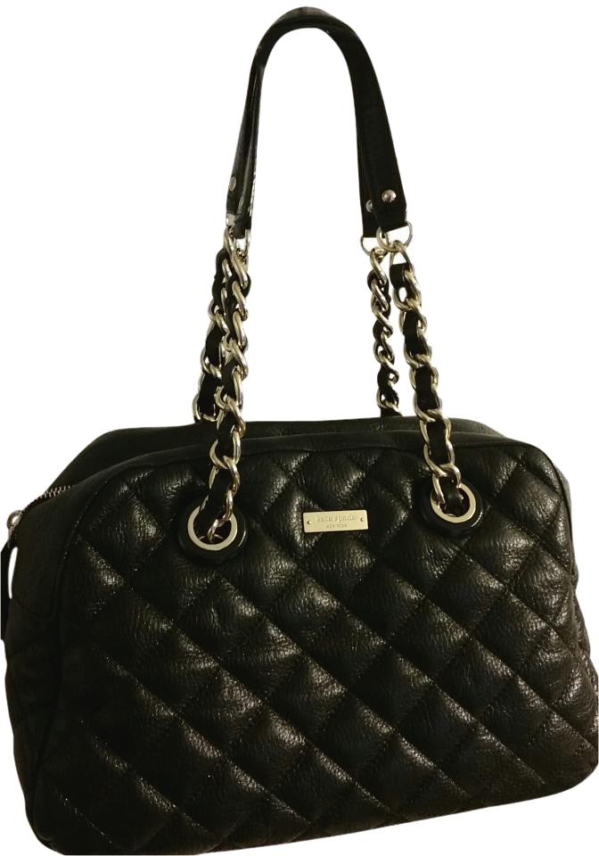 8893eb3c0bf3 Kate Spade Medium Hobo W  Shoulder Black Quilted Leather Gold Chain ...