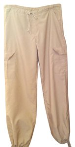 Laura Aime Paris Cargo French Made In France Summer Wide Leg Pants Beige