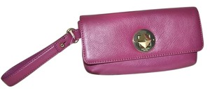 Kate Spade Leather Cell Phone Case Purse Turnlock Wristlet in Moody Plum