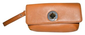 Kate Spade Leather Cell Phone Case Purse Turnlock Wristlet in Tan