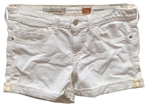 Anthropologie Cuffed Shorts Off White
