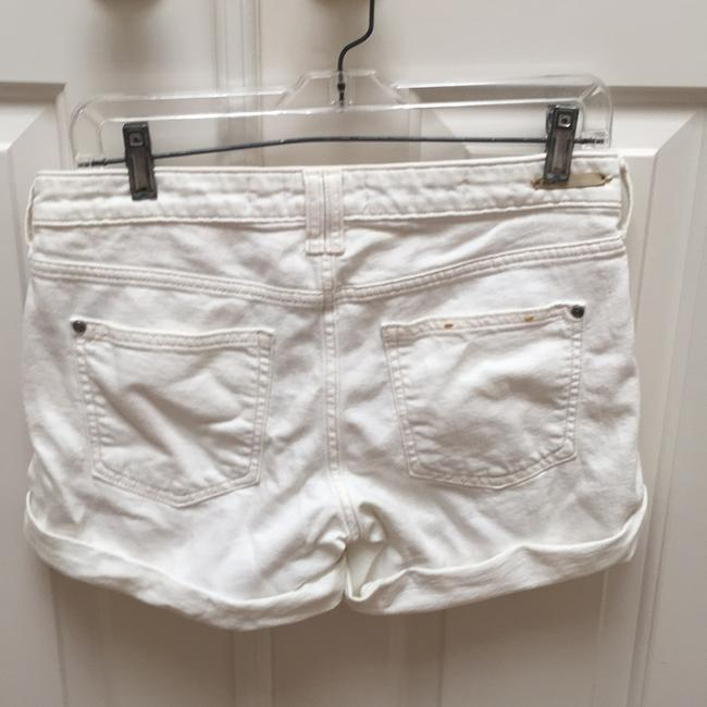 Anthropologie Cuffed Shorts Off White Image 1
