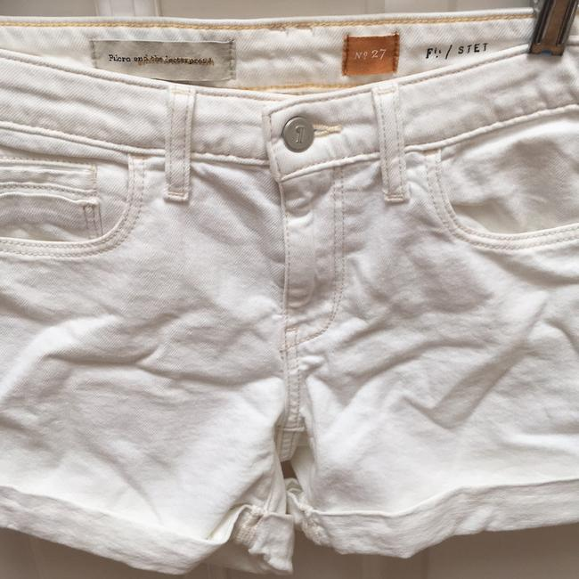 Anthropologie Cuffed Shorts Off White Image 2