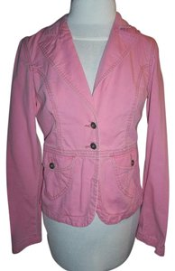 Mossimo Supply Co. Medium 100% Cotton 2 Buttons Front Pink Womens Jean Jacket