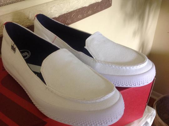 FitFlop Canvas Slip On Comfort White Athletic Image 3