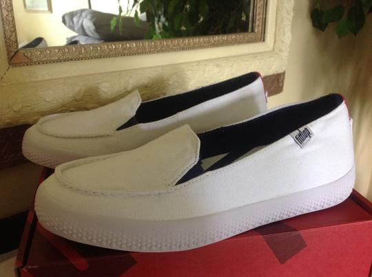 FitFlop Canvas Slip On Comfort White Athletic Image 4