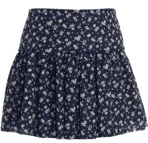 L'AGENCE Navy Floral Mini Skirt