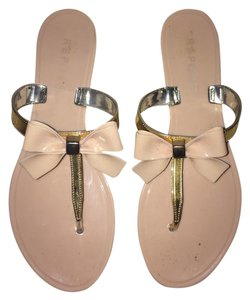 REPORT Bow Sandal Shoe Flat light pink Sandals