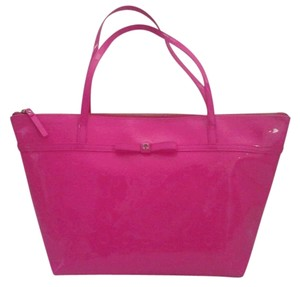 Kate Spade Handbag Sophie Camellia Pink Travel Tote in Hot Pink