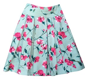 Express Summer Floral Skirt Mint/Pink/Red/Green
