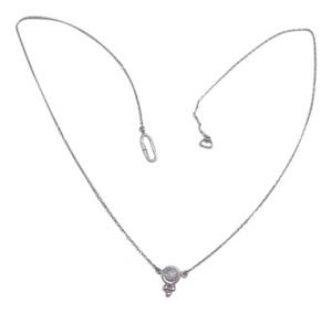 Vintage Diamond Platinum Charm Necklace
