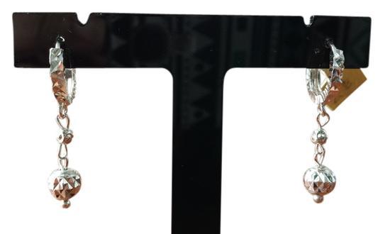 Other Italy 925 Sterling silver dangling diamond cut earrings