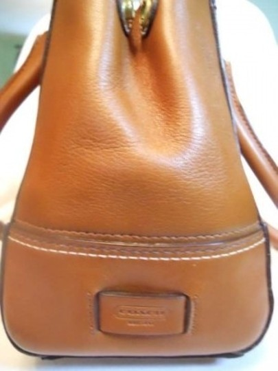 Coach Leather Satchel in tan