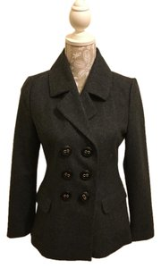 Tulle Buttons Wool Pea Coat