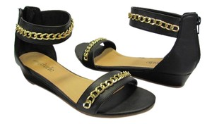 Charming Charlie Size 8.50 M Good Condition Black, Gold, Sandals