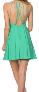 Boho Chic short dress Green on Tradesy