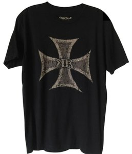 Rock & Republic Tee Crystal Tee Tee T Shirt Black