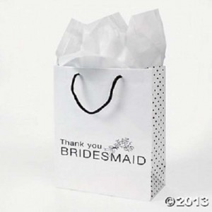 White Bridesmaids Gift Bags