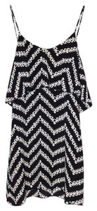 Blu Moon short dress Black Low Back Zig Zag Summer on Tradesy