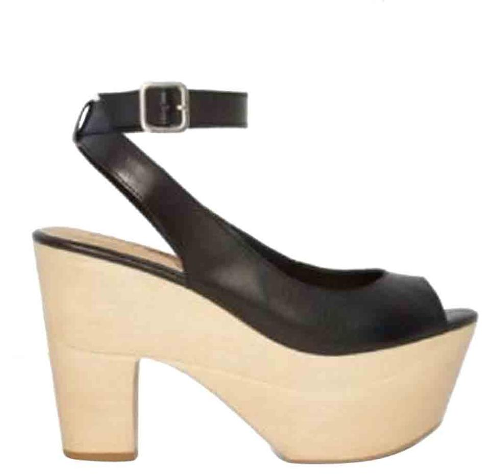 bd470efc6d0 Nasty Gal Black Wood You Rather Platform Pumps Size US 6 Regular (M ...