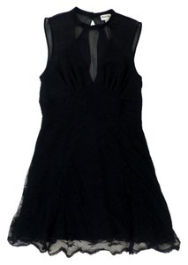 Urban Outfitters Sheer Lace Cut-out Scalloped Party A-line Dress