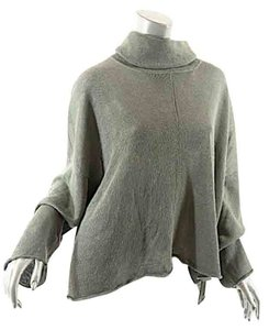 Eskandar Turtleneck Linen Crop Sweater