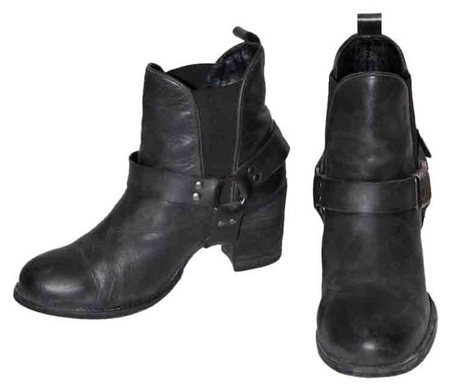 Item - Gray Leather Buckle Boots/Booties Size US 9 Regular (M, B)