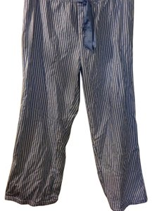 Faded Glory Wide Leg Pants blue/white