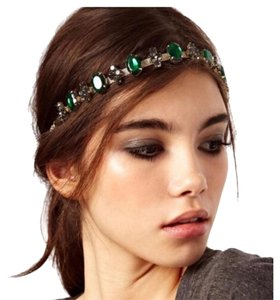 Gold and emerald jeweled headband Emerald Jeweled Headband