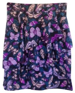 H&M Mini Skirt purple with butterflies