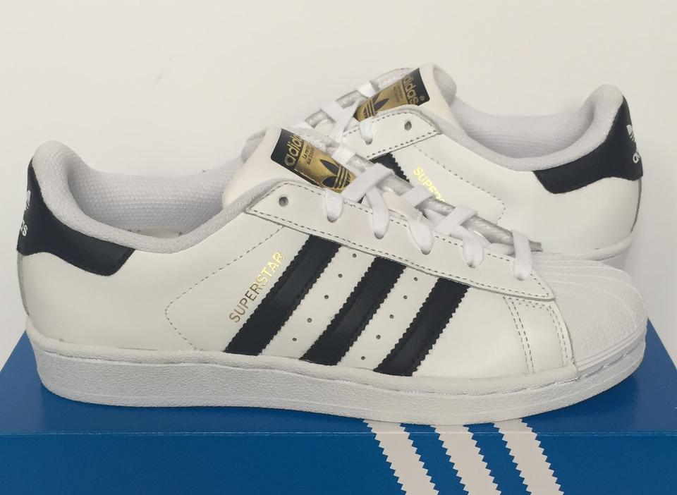 adidas White Black Women s Superstar Sneakers Shell Toe C77153 ... 57ff13e4b