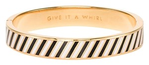 Kate Spade Kate Spade NY, gold plated,give it a whirl idiom bangle