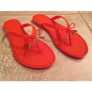 Tory Burch Water-resistant Poppy Orange Sandals