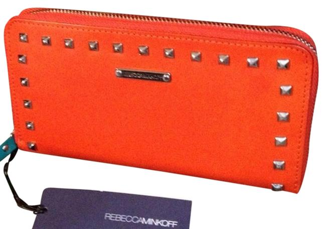 Item - Orange Leather Wristlet