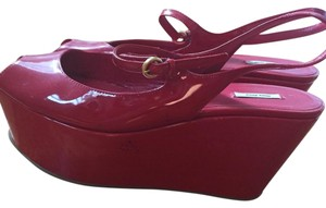Miu Miu Red Wedges