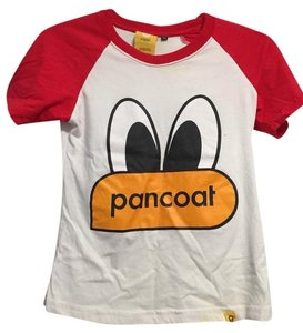 Pancoat T Shirt Red And White