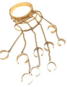 Eddie Borgo EDDIE BORGO LEFT HAND PIECE CHAIN BRACELET 5 FINGER RING ONE PIECE SET