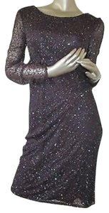 Patra Long Sleeve Sequin India Cocktail Dress