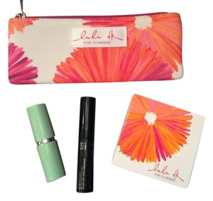 Clinique new Clinique lulu dk mini cosmetic bag and cosmetic bundle